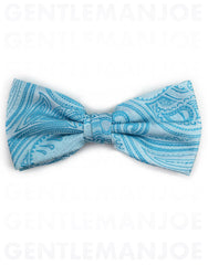 turquoise paisley bow tie