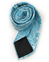 turquoise rolled tie