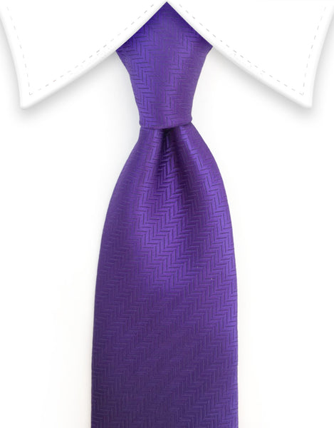 violet purple herringbone tie