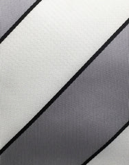 Silvery Gray & White Striped Tie