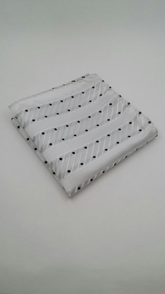 white and black dot hanky