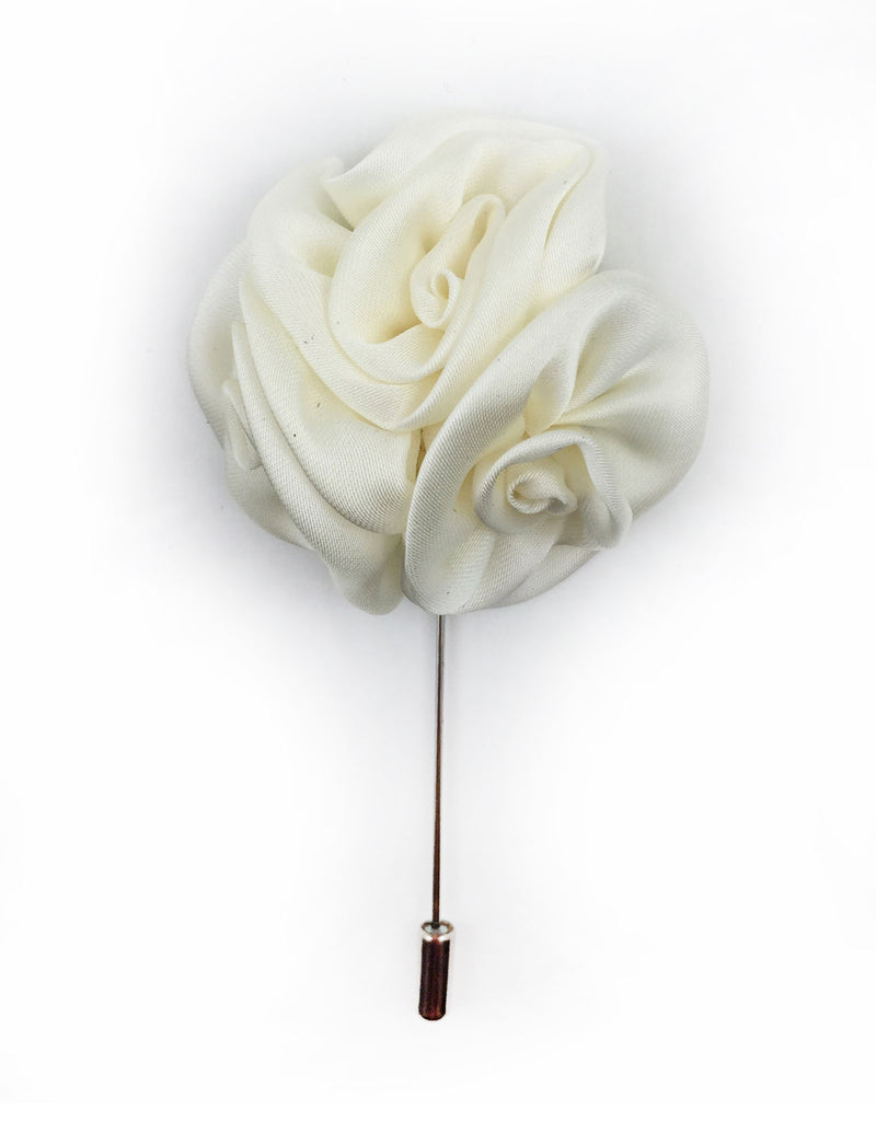White ivory flower lapel pin gentlemanjoe next mightylinksfo
