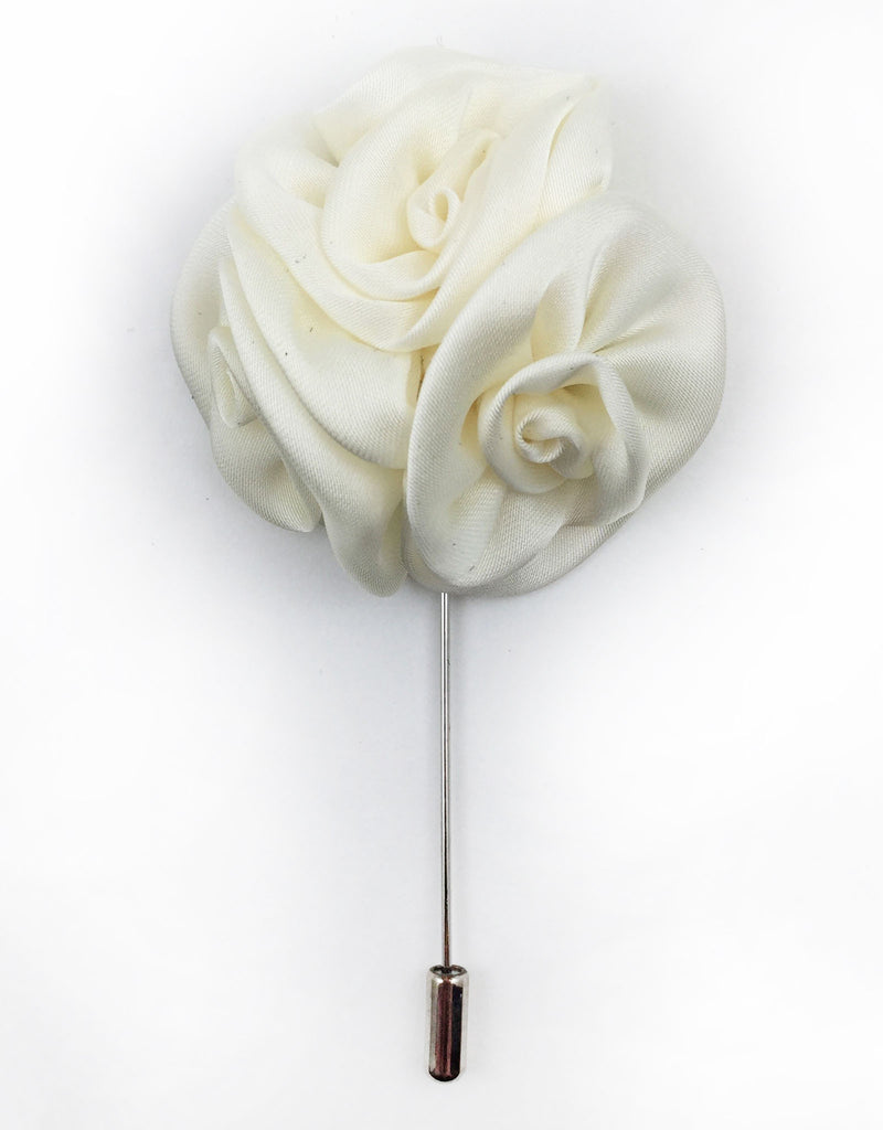 White ivory flower lapel pin gentlemanjoe previous mightylinksfo