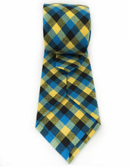 Yellow check tie