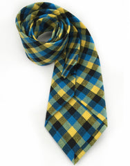 yellow blue cotton tie