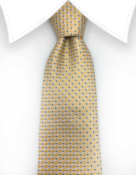 Elegant Yellow Gold Tie with Classy Pattern
