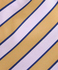 Yellow, White & Blue Striped Tie
