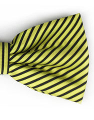 yellow and black bowtie