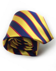 navy blue & gold tie