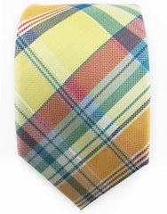 Yellow & Multi-Color Plaid Tie