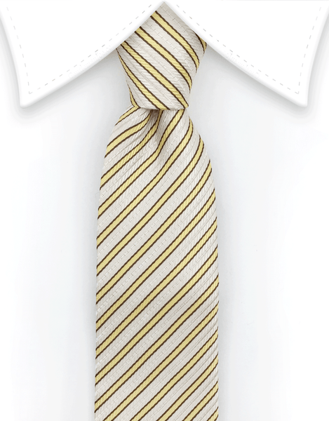 Yellow Stripes Thin Tie