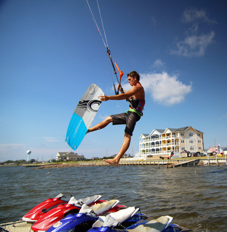Kiteboarding at Waves Village Resort on Hatteras Island