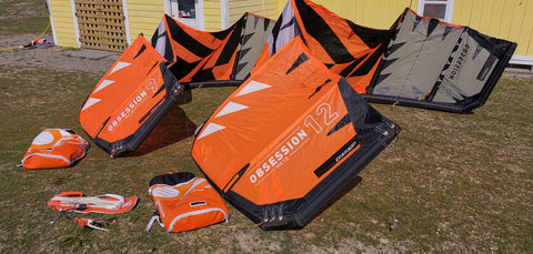 USED RRD Obsession MK10 Kiteboarding Kite and Bar Package