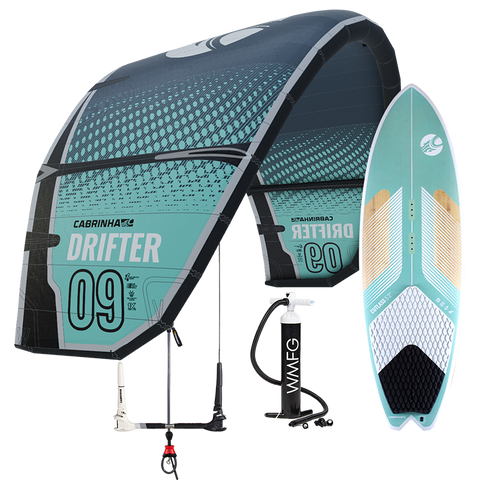 :01 Cabrinha Drifter Kiteboarding Surf Package