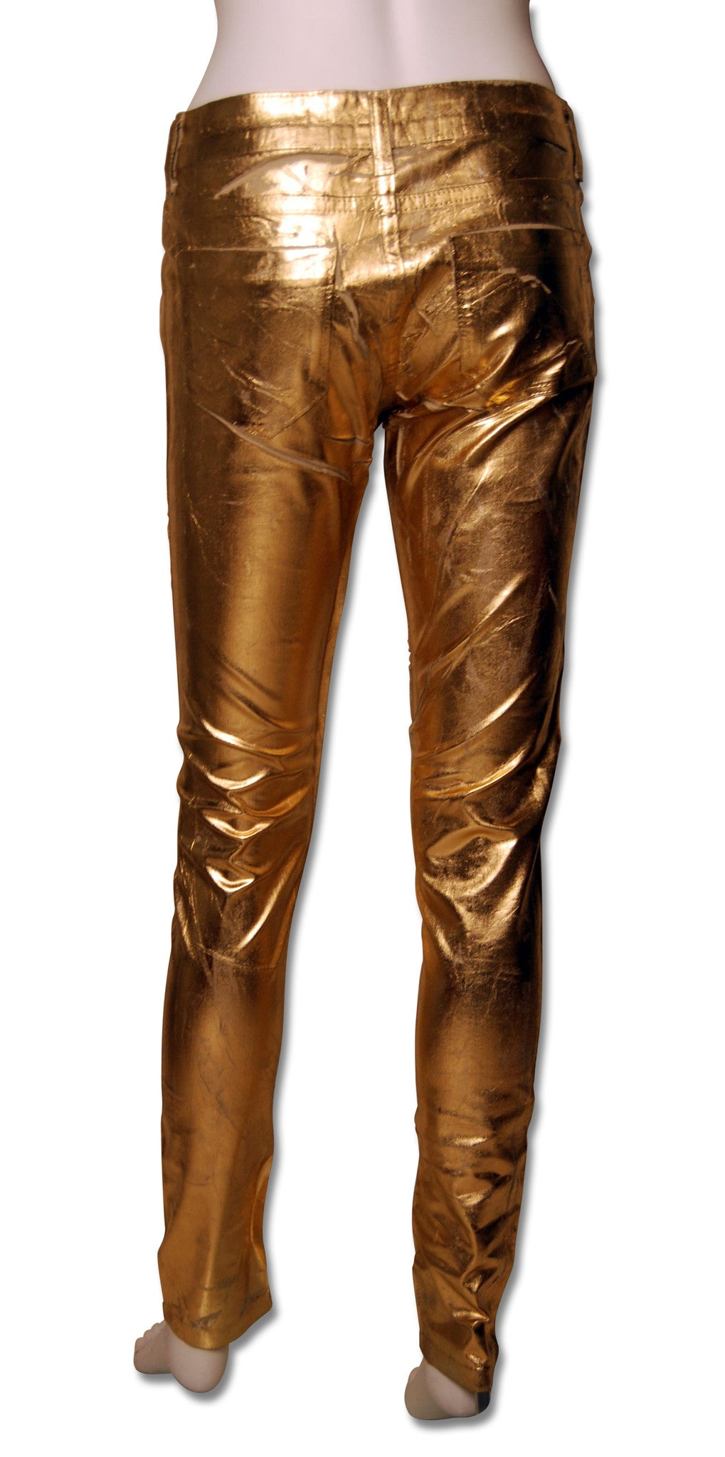 ffffd6f70bd392 ... 1  Sold Out Moto Gold Foil Jeans - refashioner - 2 ...