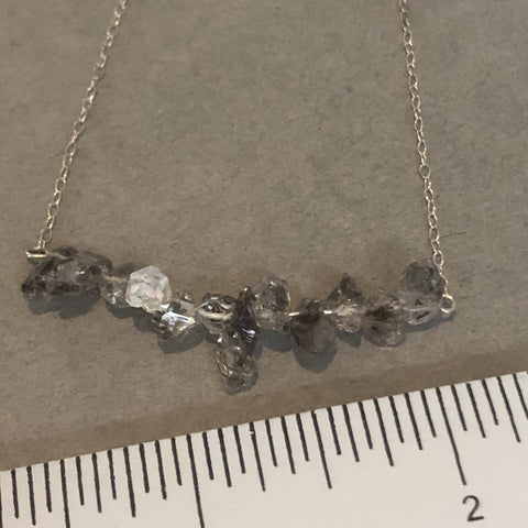 handmade sterling silver Herkimer diamond necklace