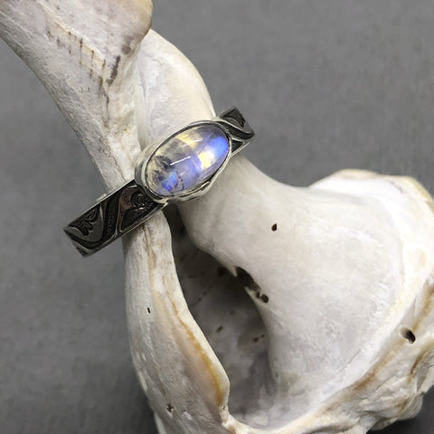 Custom Moonstone Ring