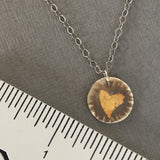 keum-boo heart charm necklace