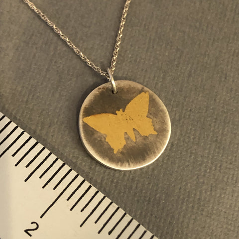 keum-boo gold handmade silver butterfly charm