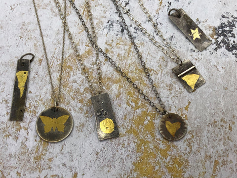 various keum-boo necklaces