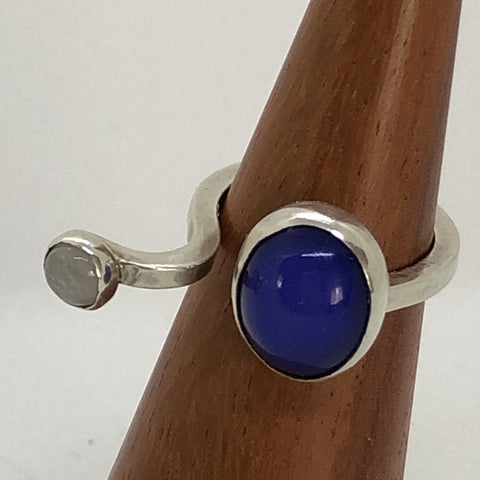 Agate and Moonstone Ring