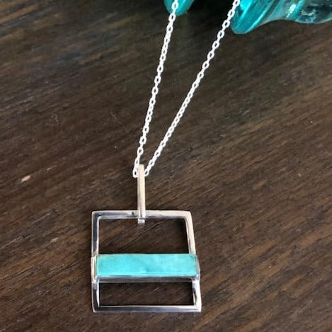 handmade sterling silver turquoise necklace