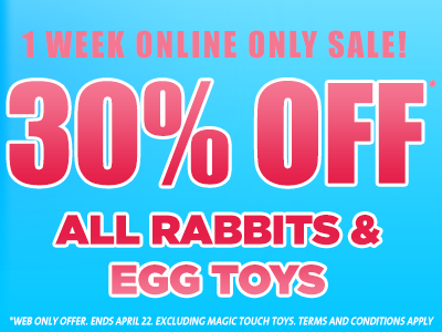 30% OFF Easter Rabbits and Eggs sex toys