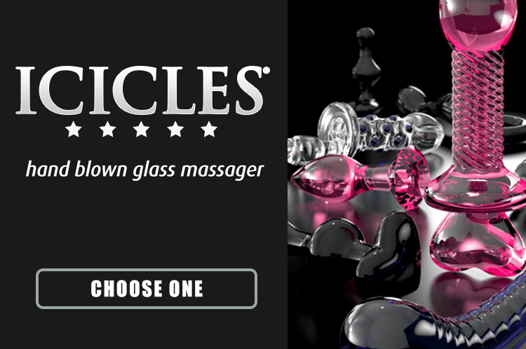 Unique glass dildos made by Icicles
