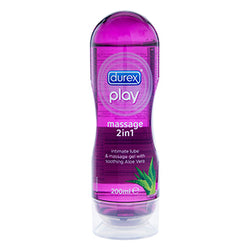 Durex 2 in 1 Lubricant & Massage Oil Purple (Aloe Vera) - Club X