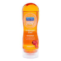 Durex 2 in 1 Lubricant & Massage Oil Orange (Guranna) - Club X