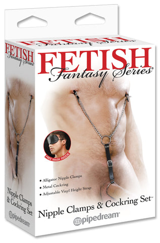 Fetish Fantasy - Nipple Clamps & Cockring Set