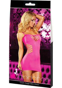 Cash Cage Mini Dress One Size / Pink - Club X