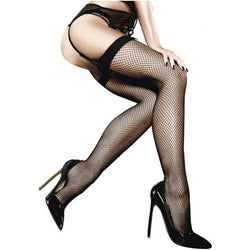 Fishnet Thighhigh with Backseam  - Club X