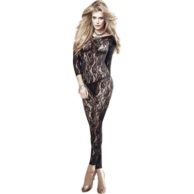 Long Sleeve All Over Lace Bodystocking