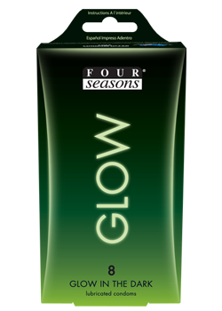 Four Seasons Glow in the Dark Condoms 8 pack