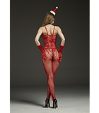 Crotchless Red Body Stocking