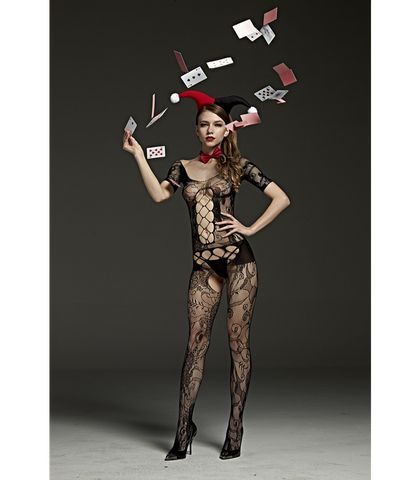 Body Stocking with Cut Out & Lace Design