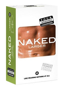Four Season Naked Larger Condoms 12 pack