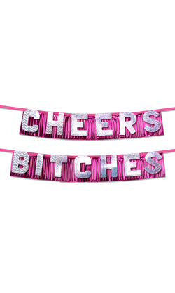 "Bachelorette Party ""Cheers Bitches"" Party Banner  - Club X"