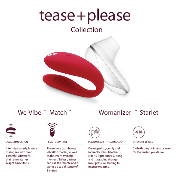 Womanizer Tease And Please - Couples Vibrator  Stimulator -7509