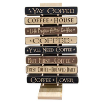 WOODEN COFFEE SIGNS