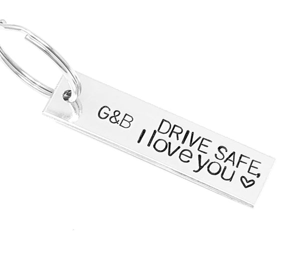 Drive Safe, I Love You Keychain