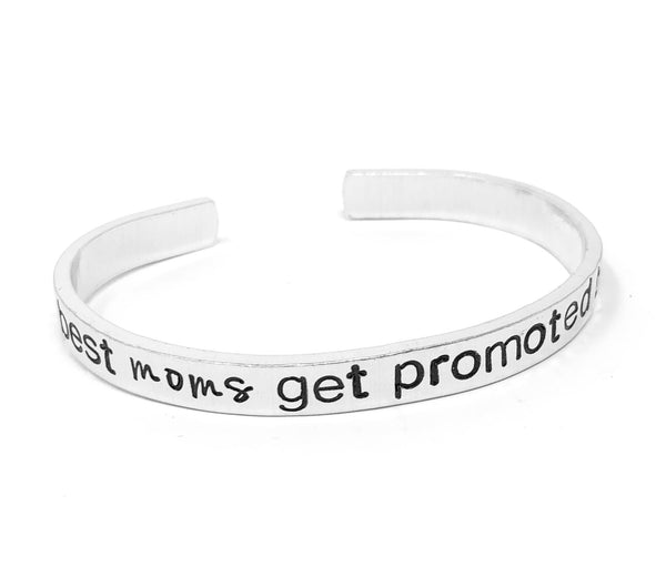 The Best Moms Get Promoted to Grandmas Bracelet