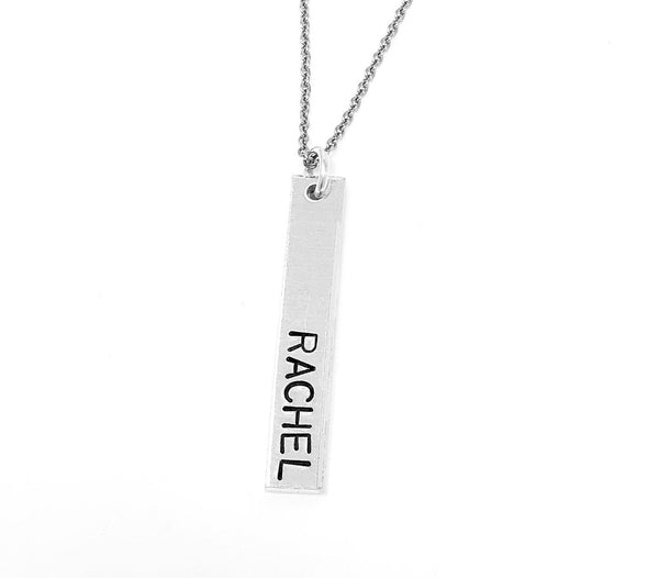 Name Vertical Bar Necklace
