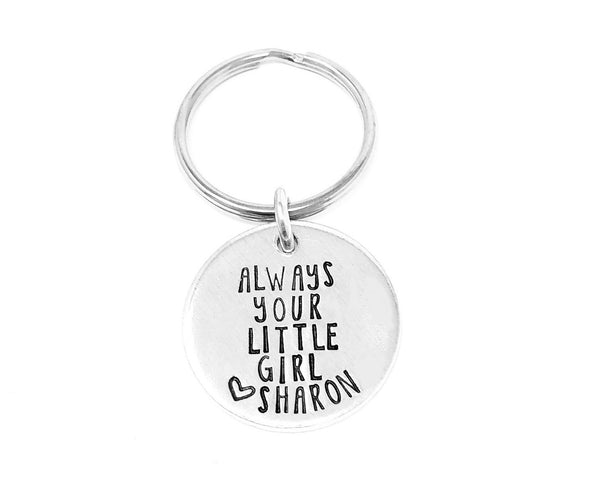 Always Your Little Girl Keychain