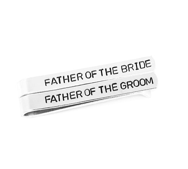 Father Of The Groom and Bride Tie Bar Set