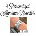 "Set of 9 - 1/4"" Wide Bracelets"
