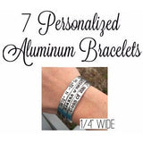 "Set of 7 - 1/4"" Wide Bracelets"