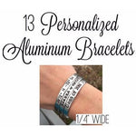 "Set of 13 - 1/4"" Wide Bracelets"