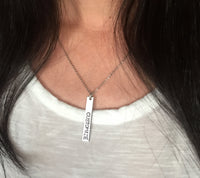 Custom Vertical Bar Necklace Gift Set